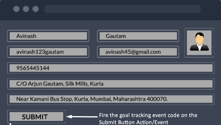 Goal Tracking in form abandonment campaign