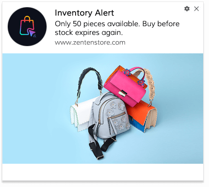 Inventory Alert Push Notification Template 3