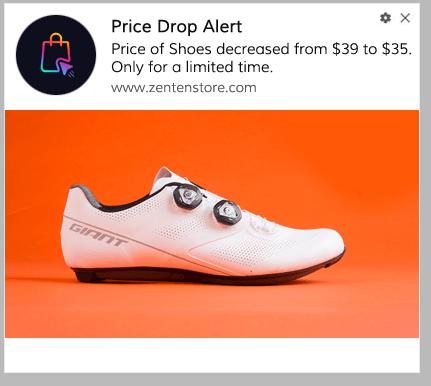 Price Drop Alert Push Notification Template 2