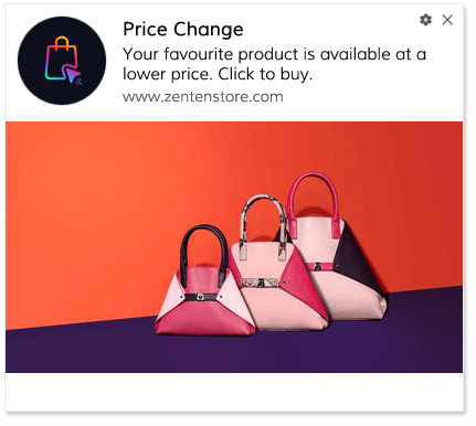 Price Drop Alert Push Notification Template 3