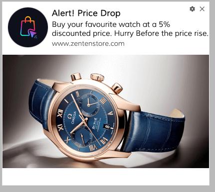 Price Drop Alert Push Notification Template 4