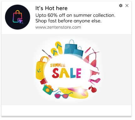 Seasonal Sale Push Notification Template 2