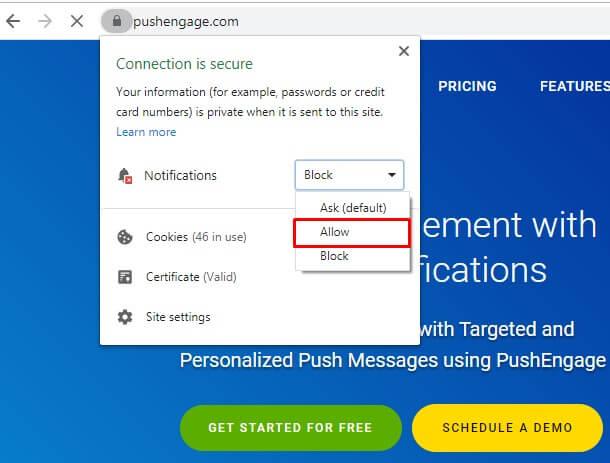 Enable Web Push Notifications