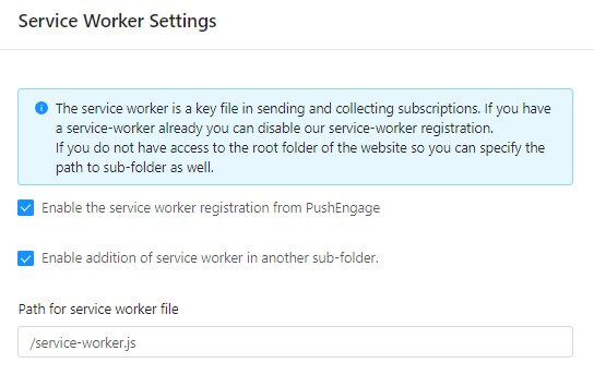 advanced service worker setting