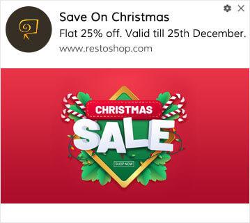 Christmas Day Sale Push Notification
