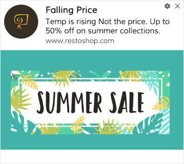 Seasonal Discount Web Push Example