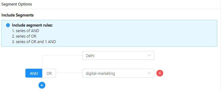 advance segmentation for job website