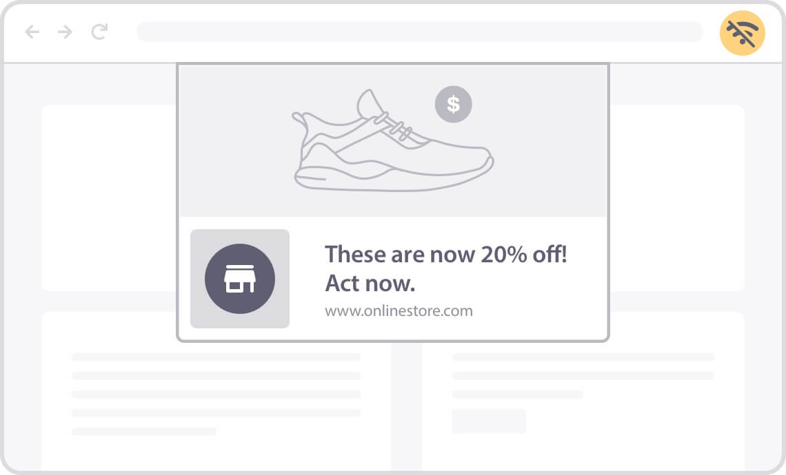 use offline push notifications to re-engage your visitors