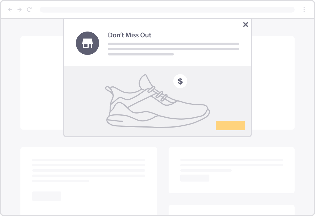 abandoned cart push notifications for more revenue