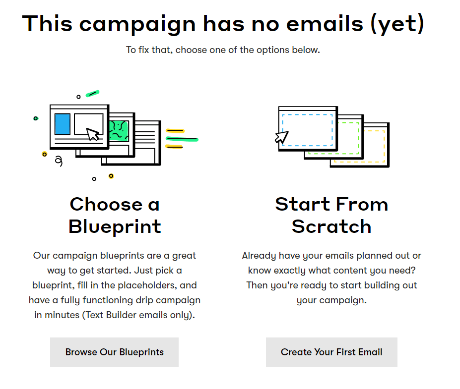 Create a new email campaign in Drip