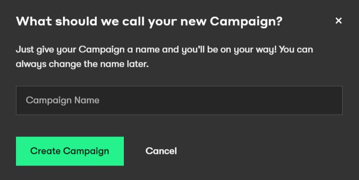 Drip new campaign