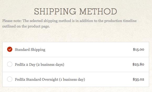 Optimizing shipping methods