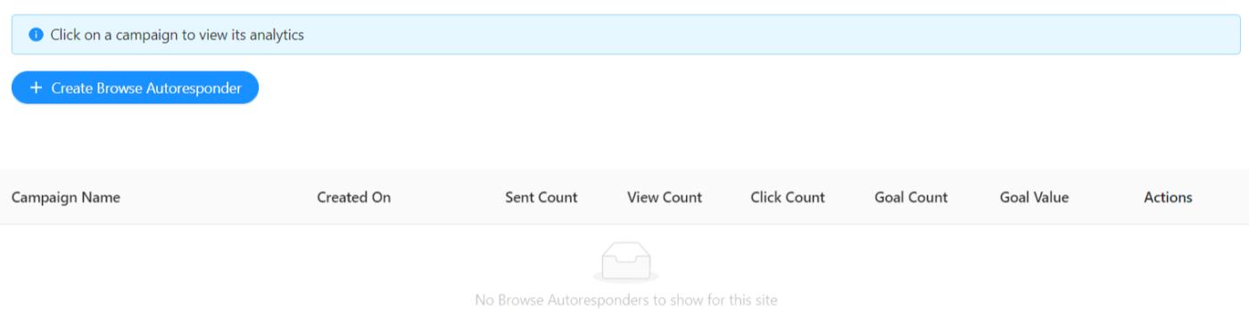 Create New Browse Abandonment Autoresponder