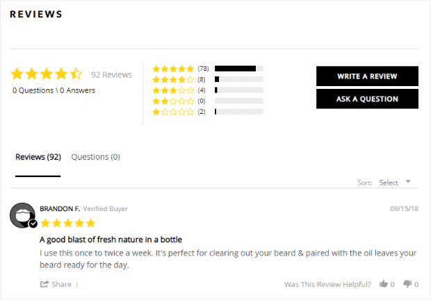 Leave a website review