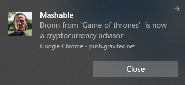 Mashable Clickbait push notification