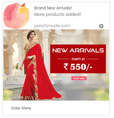 New Arrivals Push Notification Campaign