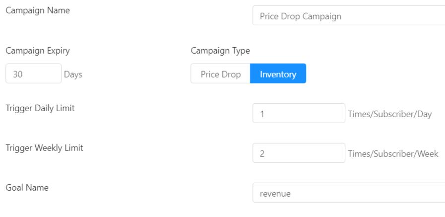 Create New Inventory Alert