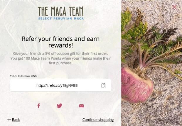 Maca Team Referral Program