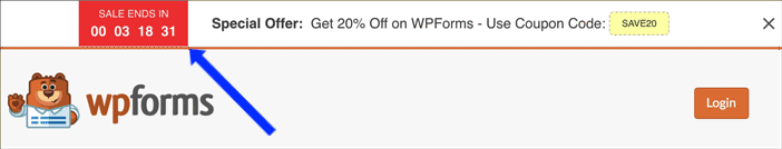 WPForms Countdown Timer Promotion