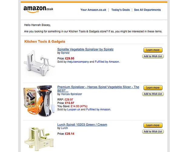 Amazon Browse Abandonment Email Examples