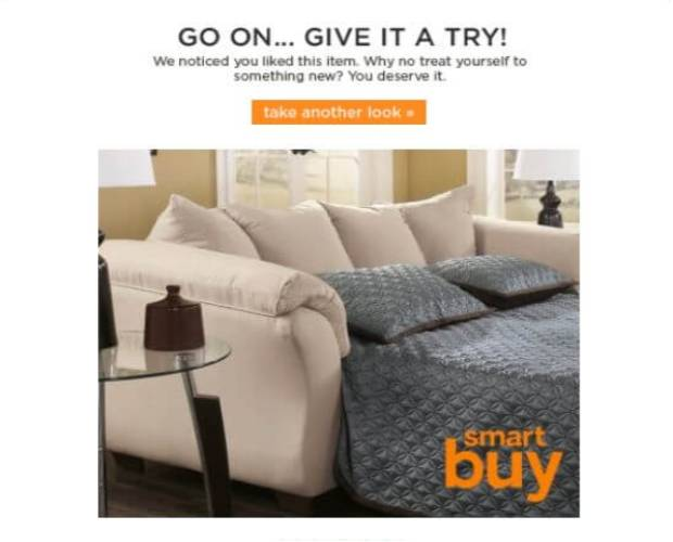 Ashley Homestore Browse Abandonment Email Examples