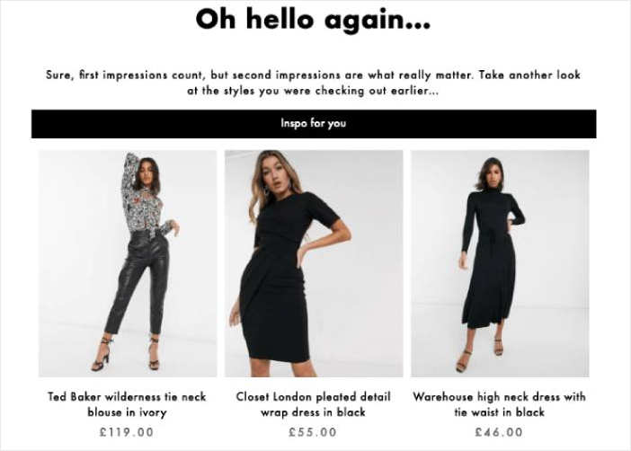 Asos Browse Abandonment Email Examples