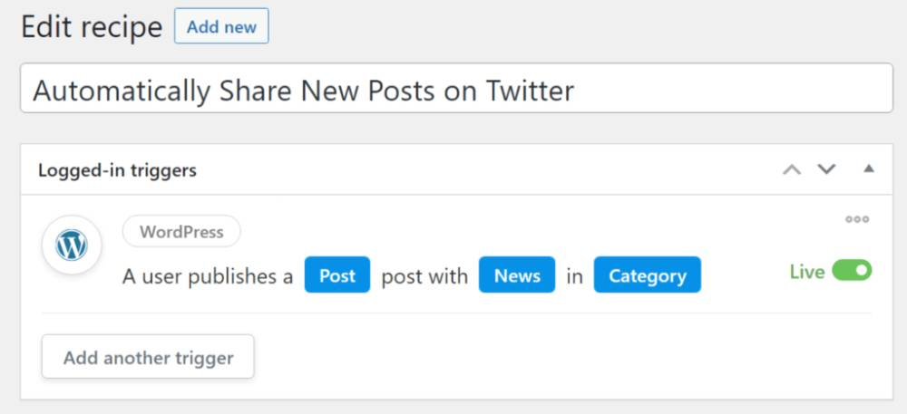 Automatically share posts on Twitter