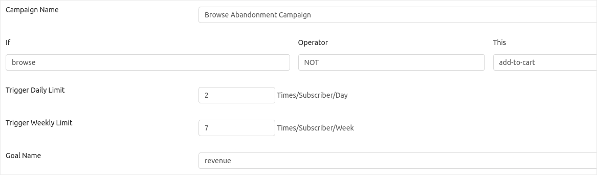 Browse Abandonment Campaign