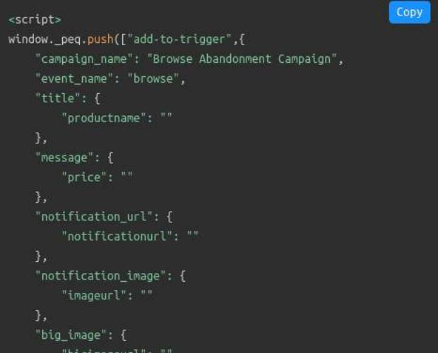 Browse Abandonment Code
