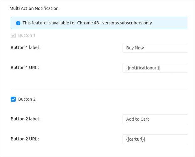 MultiAction Push Notification