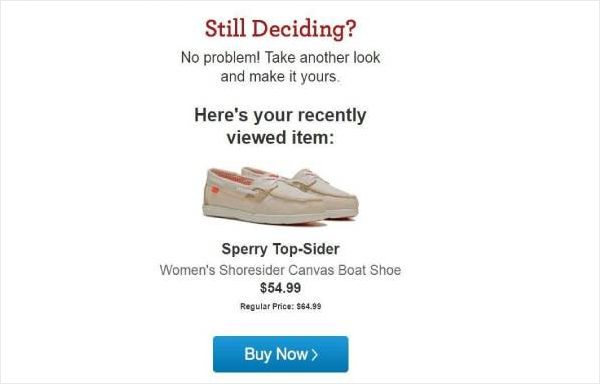 Famous Footwear Browse Abandonment Email Examples