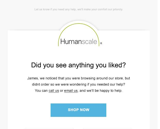 humanscale-browse-abandonment-campaign