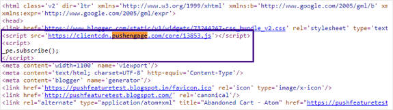 Inspect Javascript Snippet