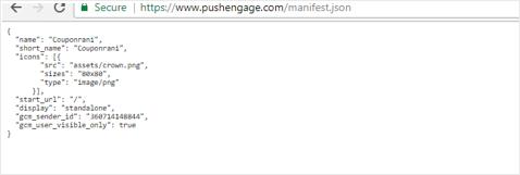 JSON Manifest