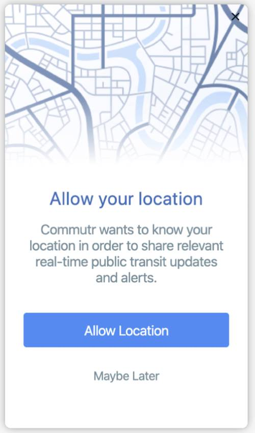 Location + Push Notification Single Opt-In Example