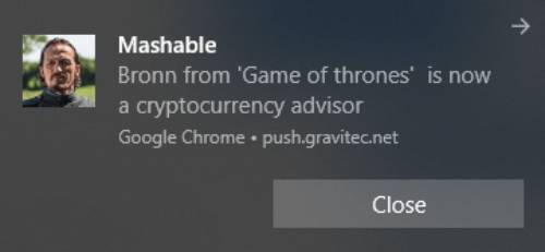 Mashable clickbait notifications