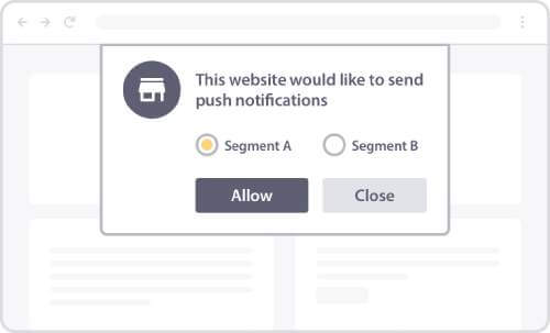 Push Notification Opt-In with Segments