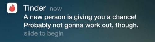 Tinder dank push notification