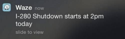 Waze helpful personalized push notification