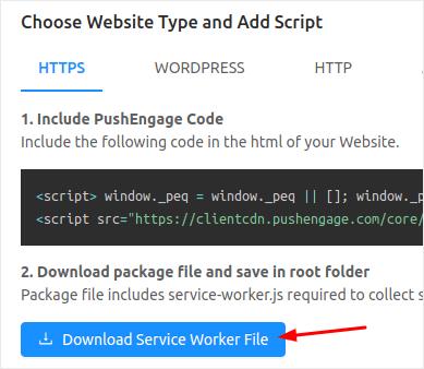 Download Service Worker File