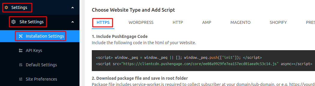 Add Push Notifications on Squarespace site