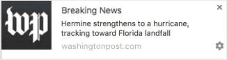 Hurricane push notification alert