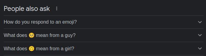 Emoji questions