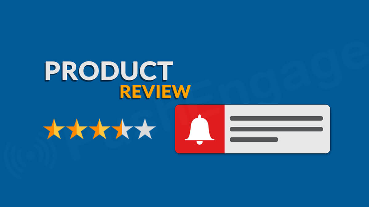 how to use Push Notification to get product reviews e-commerce site