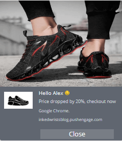 price alert push notification example